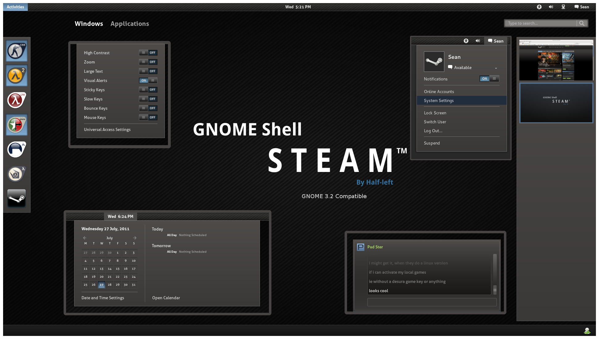 Awesome GNOME 3 Theme Presentations! | Dreambox